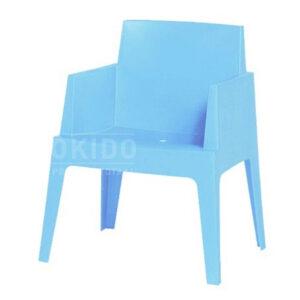 stoel box blauw