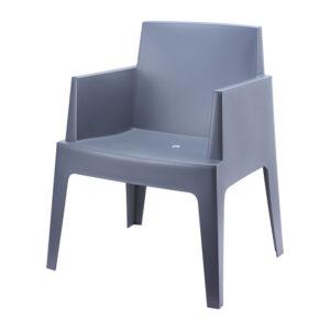 stoel box donkergrijs