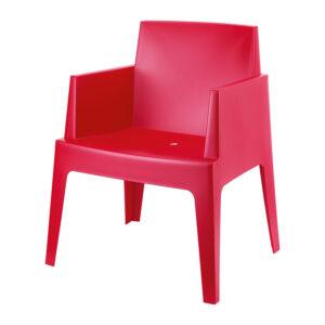 stoel box rood
