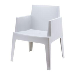 stoel box zilvergrijs