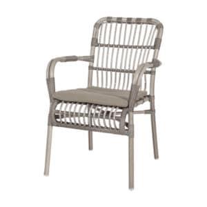 terrasstoel darwin grijs