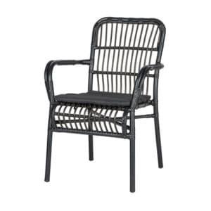 terrasstoel darwin zwart