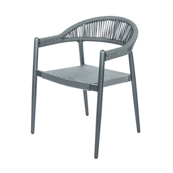 terrasstoel jason grijs