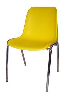 01 Felgeel e1504682156921 - Stapelbare koppelstoel Helene