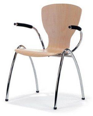 754 e1504682421738 - Metalen stoel Sempre met arm