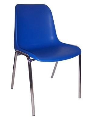 764 - Metalen stapelstoel Helene