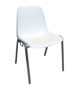 768 - Metalen stapelstoel Helene