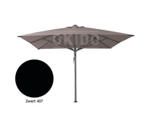 Parasol Bella 4x4 zwart