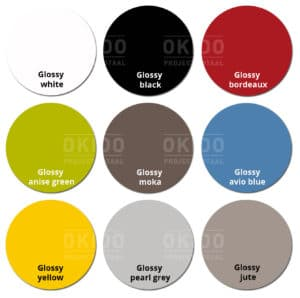 Groove kleurrondjes met logo 1 300x298 - Stapelstoel Groove