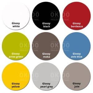 Groove kleurrondjes met logo 300x298 - Sledestoel Groove
