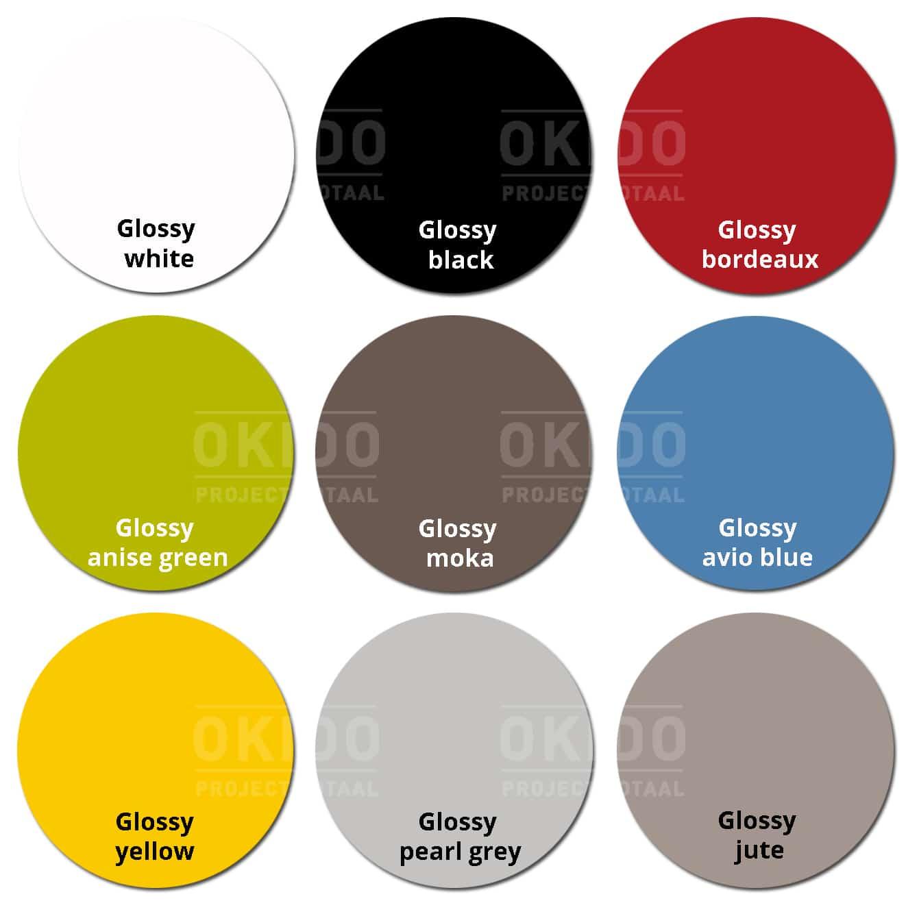Groove kleurrondjes met logo - Sledestoel Groove