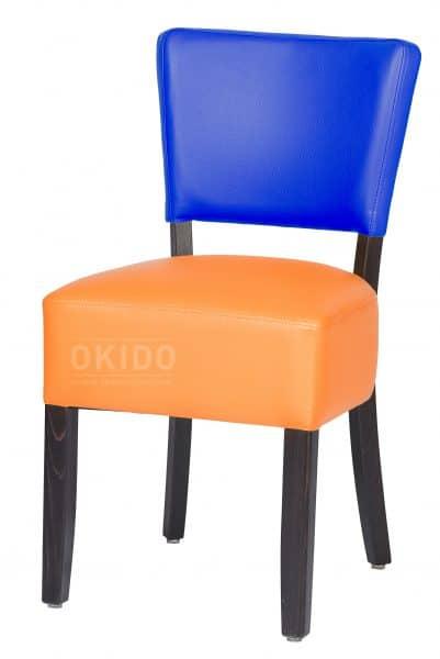 Lisa 2 kleurig blauw oranje HOOFDFOTO 401x600 - Stoel Lisa 2-kleurig