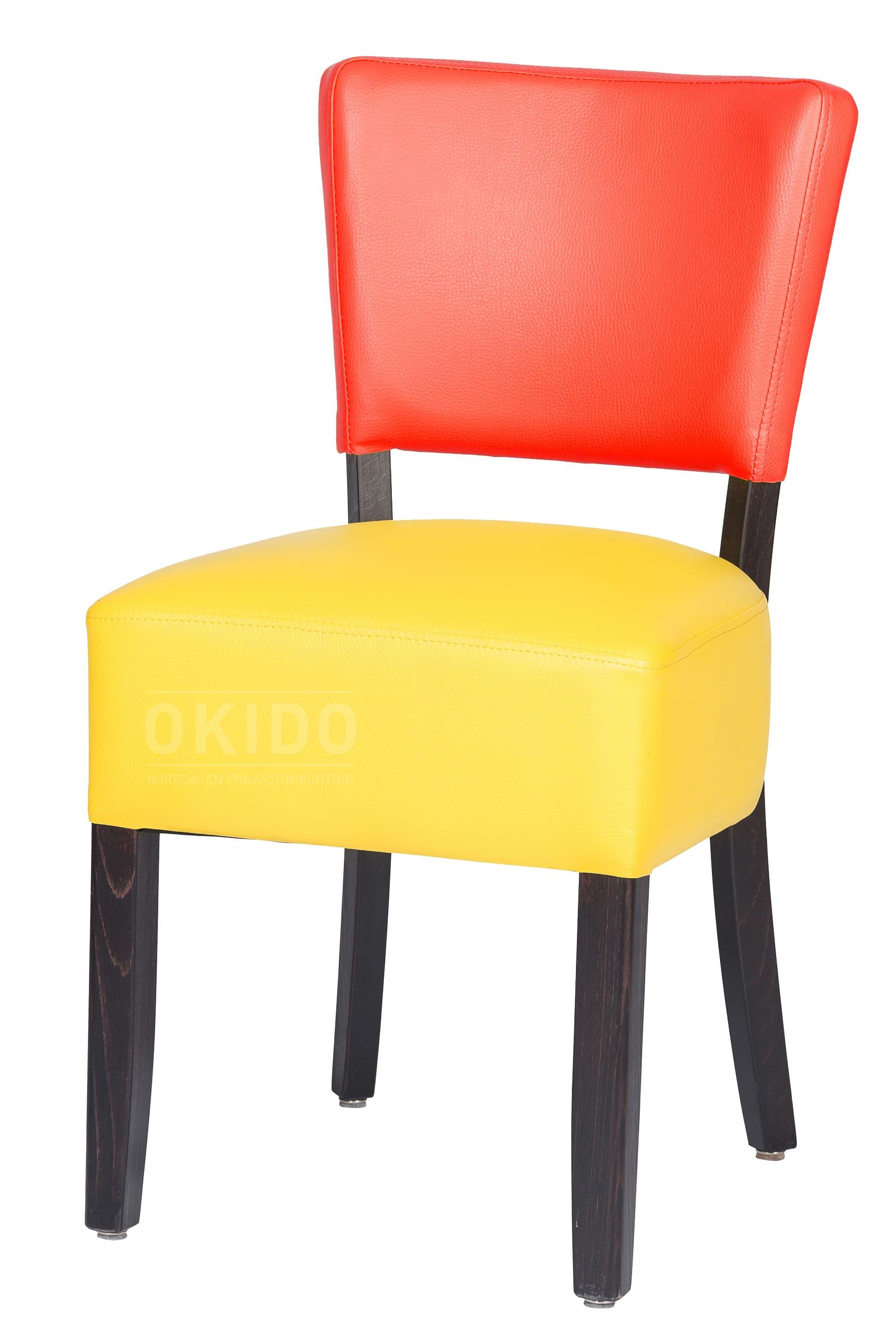 Lisa 2 kleurig rood geel HOOFDFOTO - Stoel Lisa 2-kleurig