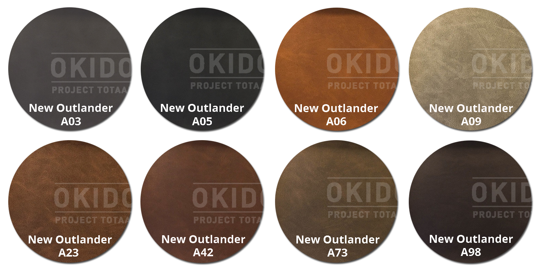 New Outlander kleurrondjes met logo 1 - Stoel Lisa-Sofie New Outlander
