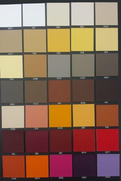 Pelko kleurkaart A 402x600 - Stoel Myron
