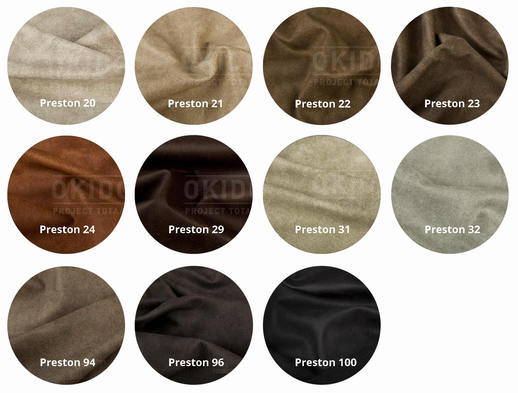 Preston kleurrondjes met logo 1 - Stoel Lisa Vintage