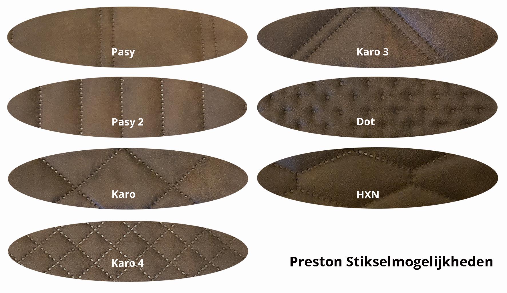 Preston stikselrondjes met tekst - Stoel Lisa Vintage