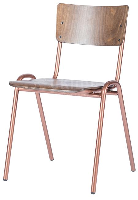 Retro noten koper frame hoofdfoto - Stoel Retro Copper