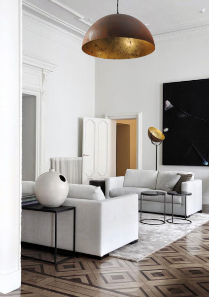 larino sfeer rust goldleaf 424x600 - Lamp Larino Roest