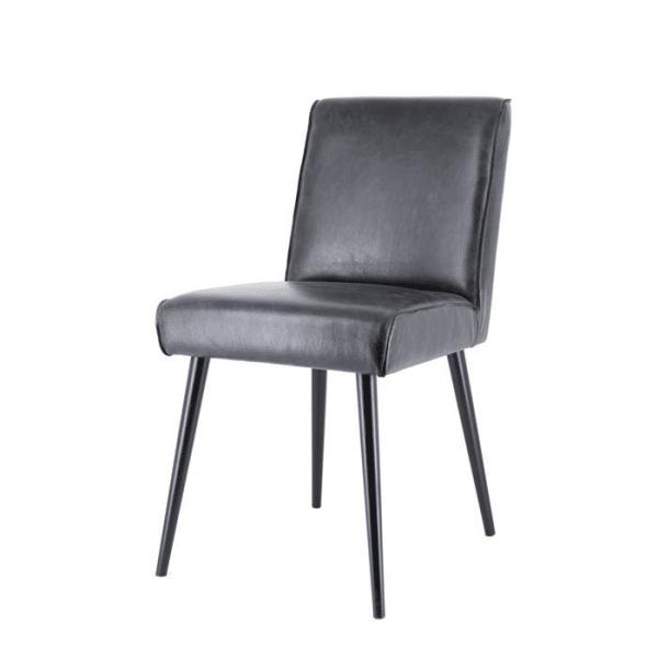 pasha. zwart creato leder 600x600 - Stoel Pasha
