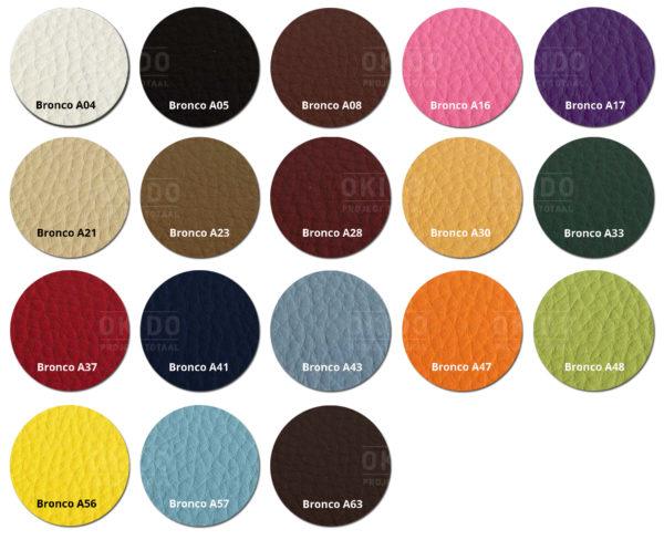 Bronco kleurrondjes met logo HOOFDFOTO 600x488 - Barkruk Lisa Bronco Maisgeel
