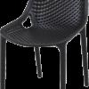 004 air black front side 100x100 - Terrasstoel Ariane Black
