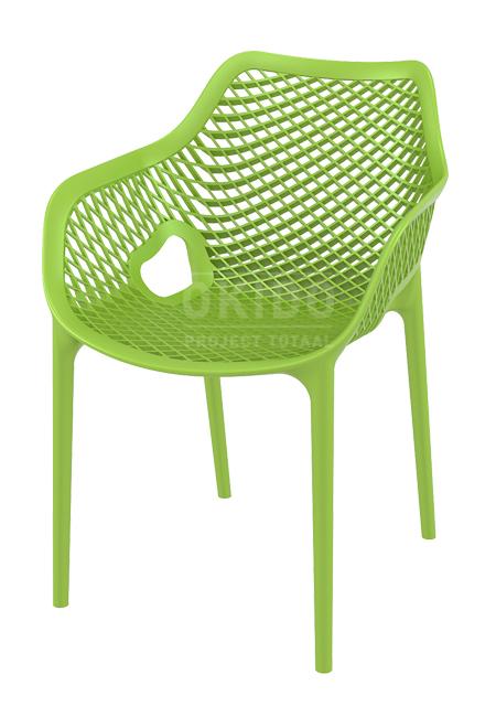 Ariane chair Tropical green 1 - Terrasstoel Ariane met arm