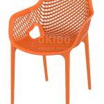 horeca Terrasstoel Ariane met armleuning Orange