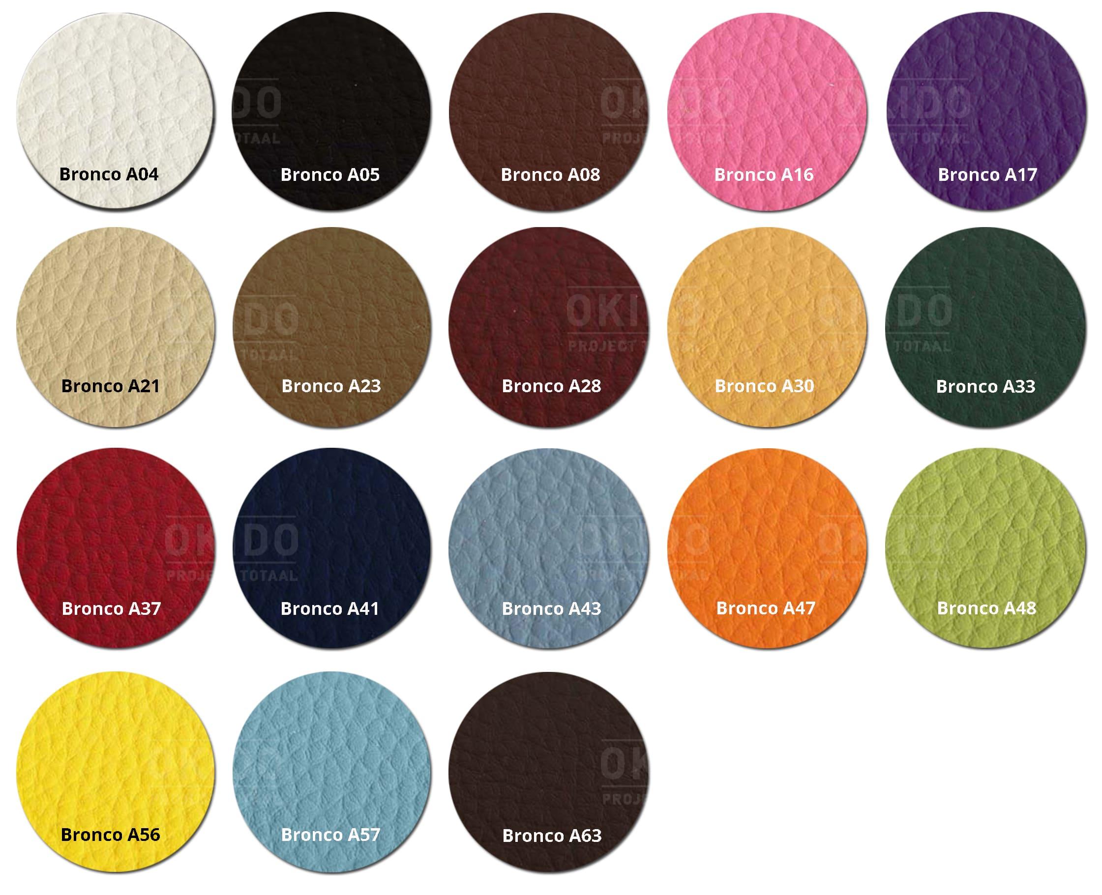 Bronco kleurrondjes met logo HOOFDFOTO - Stoel Hanna Bronco