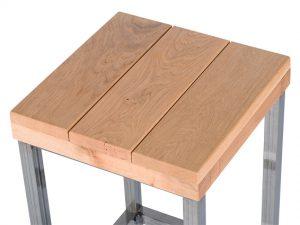 Cesar hout detail 300x225 - Hocker Cesar Hout