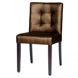 Stoel Eton Metallic Brown