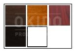 Houtkleuren met logo - Stoel Kees noten