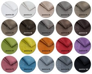 Jasmine kleurrondjes met logo 300x241 - Stoel Bora-C