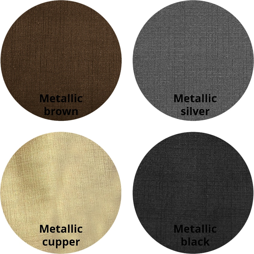 Metallic Dakota kleurrondjes met logo 1 - Barkruk Jarno-C Metallic Black