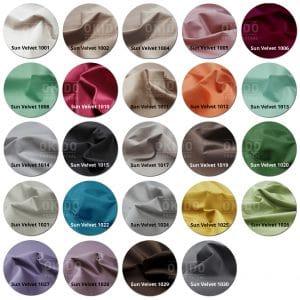 Sun Velvet kleurrondjes met logo 300x300 - Fauteuil Capital Sun Velvet