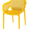 horeca Terrasstoel Ariane Yellow met armleuning