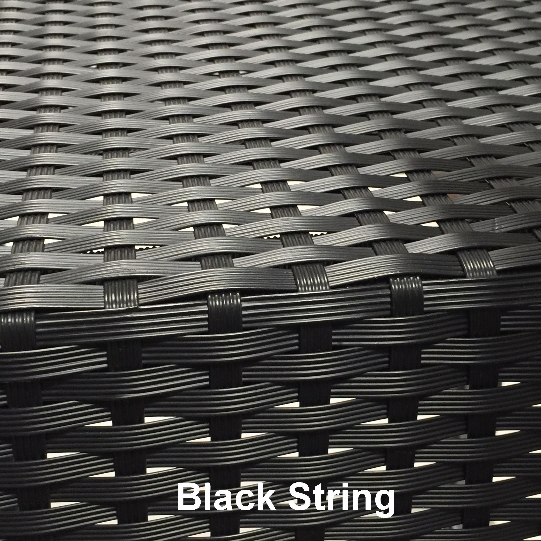 Black String met naam 1 - Terrasstoel Saint Tropez Arm Burned brown