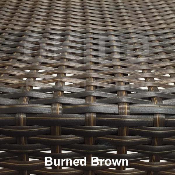 Burned Brown met naam 600x600 - Terrasstoel Saint Tropez Arm Burned brown