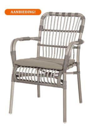 Darwin terrasstoel grijs
