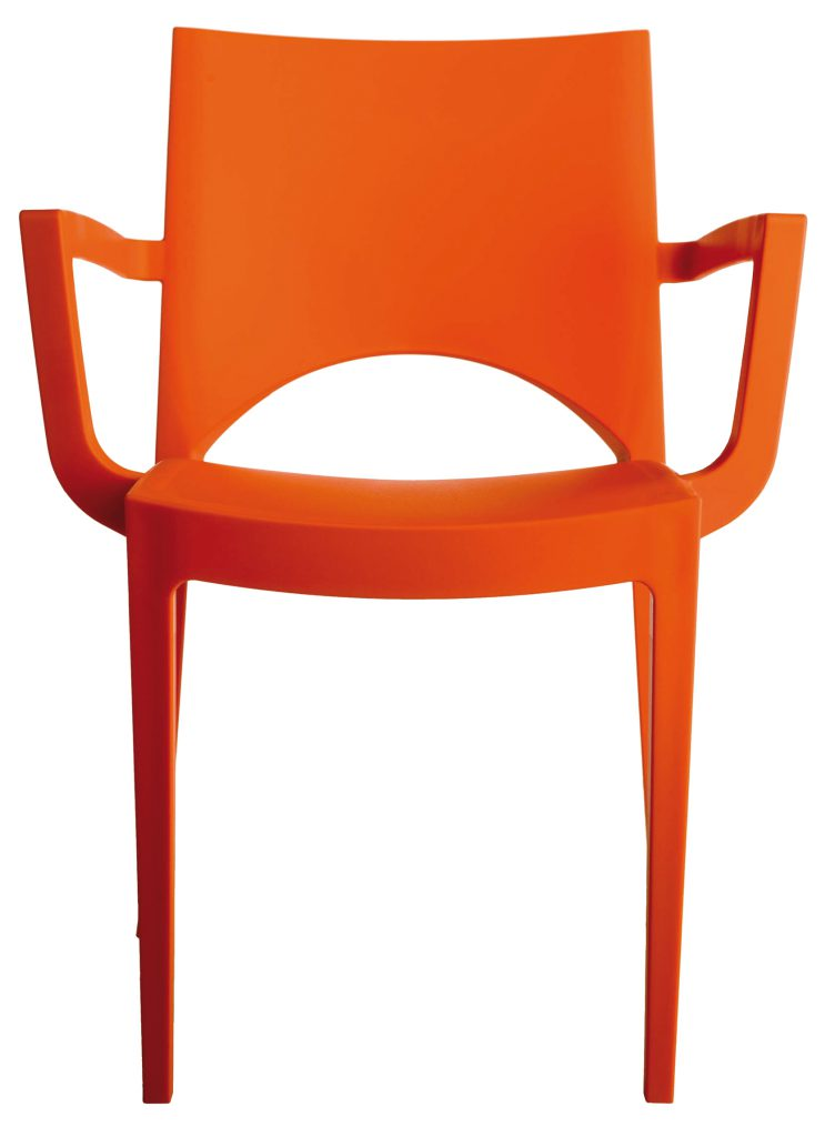 horeca Terrasstoel Samba Arm Oranje