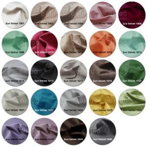 Sun Velvet kleurrondjes met logo 300x300 - Poef Noor