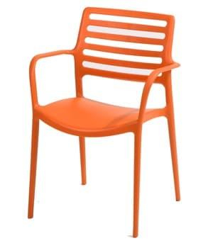horeca Terrasstoel Gino Orange arm