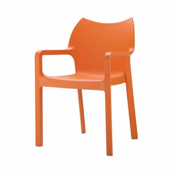 Terrasstoel Diva oranje
