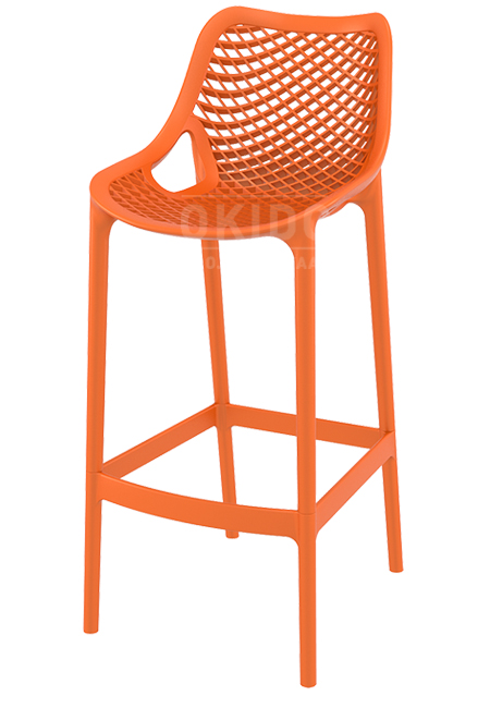 Ariane barchair orange - Barkruk Ariane Orange