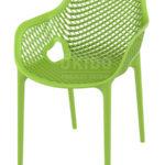 horeca Terrasstoel Ariane met arm Tropical Green
