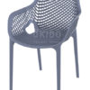 Ariane chair dark grey 100x100 - Barkruk Ariane Dark Grey