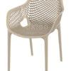Ariane chair dove grey 100x100 - Barkruk Ariane Taupe