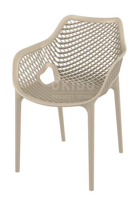 Ariane chair dove grey - Barkruk Ariane Taupe