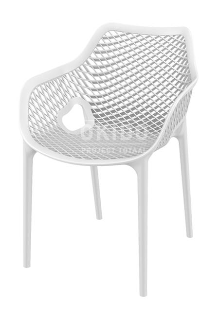 Ariane chair white - Barkruk Ariane Wit