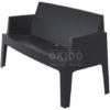 Box sofa black side 100x100 - Box Outdoorbank